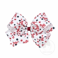 Wee Ones Girls Hair Bow - College Game Day - Alabama Crimson Tide