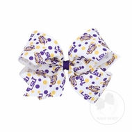 Wee Ones Girls Hair Bow - College Game Day - LSU Tigers