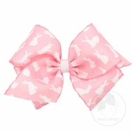 Wee Ones Girls Hair Bow - Easter Bunny - Pink