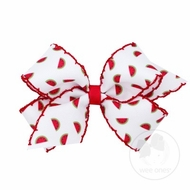 Wee Ones Girls Hair Bow - Moonstitch Watermelon Print