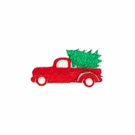 Wee Ones Girls Holiday Glitter Pinch Clip - Christmas Tree Truck