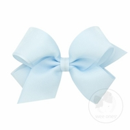 Wee Ones Girls Organza Overlay Hair Bow - Vapor Blue