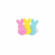Wee Ones Girls Pinch Clip Add On to Bow - Pink / Yellow / Blue Easter Bunny Peeps