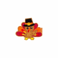 Wee Ones Girls Pinch Clip - Feltie Thanksgiving Turkey