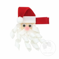 Wee Ones Girls Ribbon Art Pinch Clip - Santa Claus
