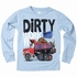Wes & Willy Boys Blue Dirty Work Dump Truck Shirt