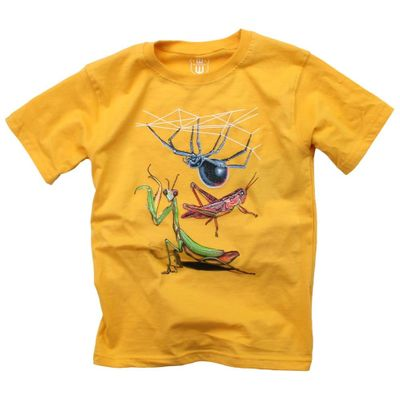 Wes & Willy Boys Bold Gold Tee Shirt - Insects / Bugs