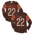 Wes & Willy Boys Brown Thanksgiving Turkey Bowl Jersey #22 Shirt