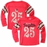 Wes & Willy Boys Christmas Red Flying Reindeer #25 Jersey Shirt