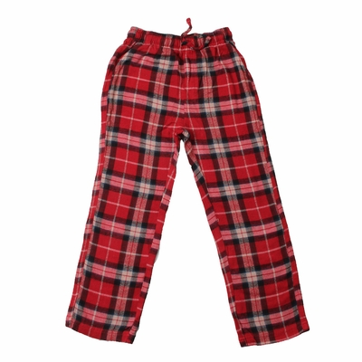 Wes & Willy Boys Comfy Plaid Lounge Pants - Cherry Red