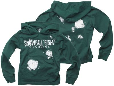 Wes & Willy Boys Evergreen Snowball Fight Champion Hoodie