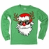 Wes & Willy Boys Green Shirt - Santa Claus in Reindeer Disguise