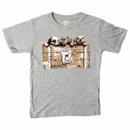 Wes & Willy Boys Heather Grey No Dogs Allowed Puppy Dog Shirt