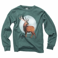 Wes & Willy Boys Long Sleeved Shirt - Evergreen Deer Buck