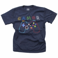 Wes & Willy Boys Midnight Blue Shirt - Video Gamer