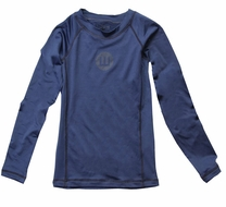 Wes & Willy Boys Sun Safe Rash Guard Shirt - Navy Blue - Long Sleeves