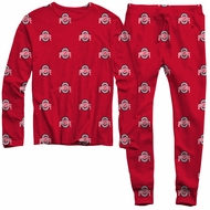 Wes & Willy College Game Day Pajamas - Red Ohio State Buckeyes
