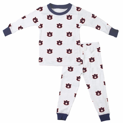 Wes & Willy Collegiate Baby / Toddler Boys Auburn University Pajamas - All Over Print
