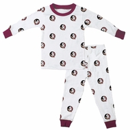 Wes & Willy Collegiate Baby / Toddler Boys FSU Florida State Pajamas - All Over Print