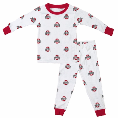 Wes & Willy Collegiate Baby / Toddler Boys Ohio State Pajamas - All Over Print