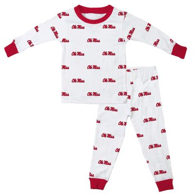 Wes & Willy Collegiate Baby / Toddler Boys Ole Miss Mississippi Pajamas - All Over Print