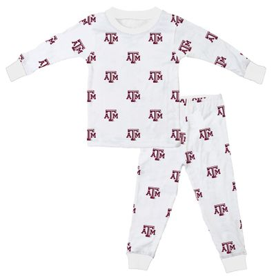 Wes & Willy Collegiate Baby / Toddler Boys Texas A & M Pajamas - All Over Print