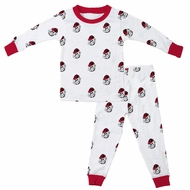 Wes & Willy Collegiate Baby / Toddler Boys UGA University of Georgia Bulldogs Pajamas - All Over Print