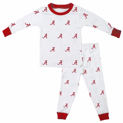 Wes & Willy Collegiate Baby / Toddler Boys University of Alabama Pajamas - All Over Print