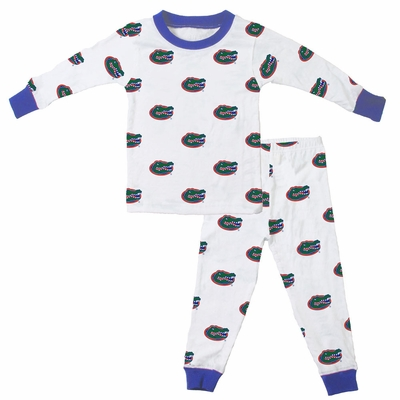 Wes & Willy Collegiate Baby / Toddler Boys University of Florida Gators Pajamas - All Over Print