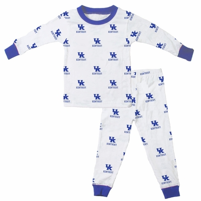 Wes & Willy Collegiate Baby / Toddler Boys University of Kentucky Pajamas - All Over Print