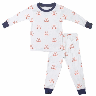 Wes & Willy Collegiate Baby / Toddler Boys UVA University of Virginia Pajamas - All Over Print