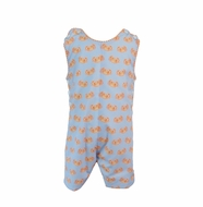 Yellow Lamb Baby / Toddler Boys Reagan Jon Jon - Blue with Orange Crabs