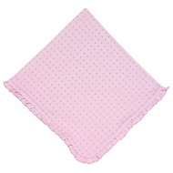 Magnolia Baby Girls Zara and Zane's Classics Ruffle Receiving Blanket - Pink
