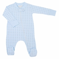 Magnolia Baby Boys Zara and Zane's Classics Zipped Footie - Blue