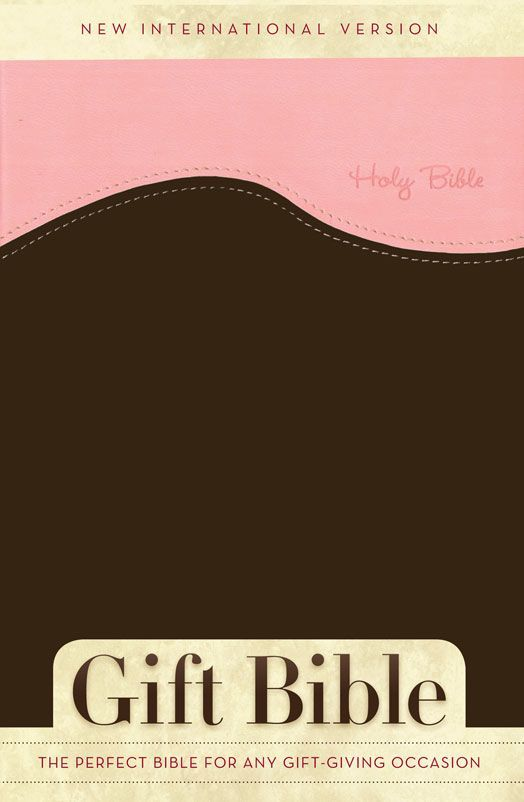 NIV Gift Bible (Italian Duo-Tone, Pink/Chocolate - Case of 24)