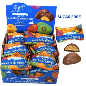 "Asher's ""Sugar Free"" Peanut Butter Meltaway Eggs 18 Count"