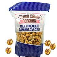 Bedford Candies Popcorn Caramel Sea Salt Milk Chocolate 14.5oz