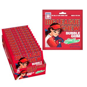 Big League Chew GIRL Strawberry 12 Count