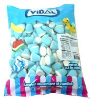 Blue & White Candy Gummi Drops 2.2lb Bag