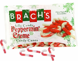 Brach's Jelly Peppermint Cream Candy Canes 11oz Bag