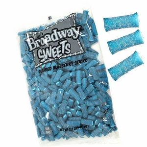 Broadway licorice Sticks Sugar Blueberry 2.2lb