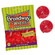 Broadway Licorice Wheels Strawberry 5.29oz