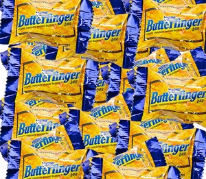 Butterfinger Mini Bite Size Candy Bars 25lb Bulk