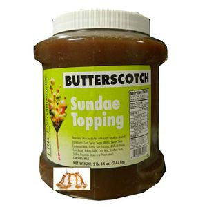 Butterscotch Sundae Topping 5.14lb Jar