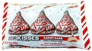 Candy Cane Hershey's Kisses 10oz