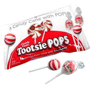 Candy Cane Tootsie Pop Lollipops 16ct