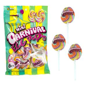 Carnival Mini Easter Egg Pops 8 Count Bag