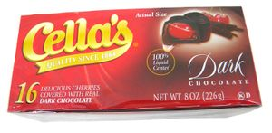 Cella's Chocolate Covered Cherries 8oz Liquid Center Dark