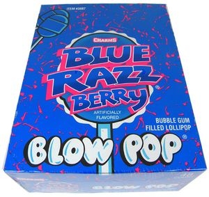 Charms Blow Pop Lollipops - Blue Raspberry 48 Count