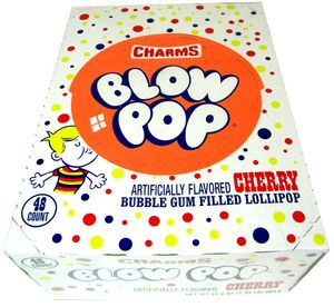 Charms Blow Pop Lollipops - Cherry 48 Count